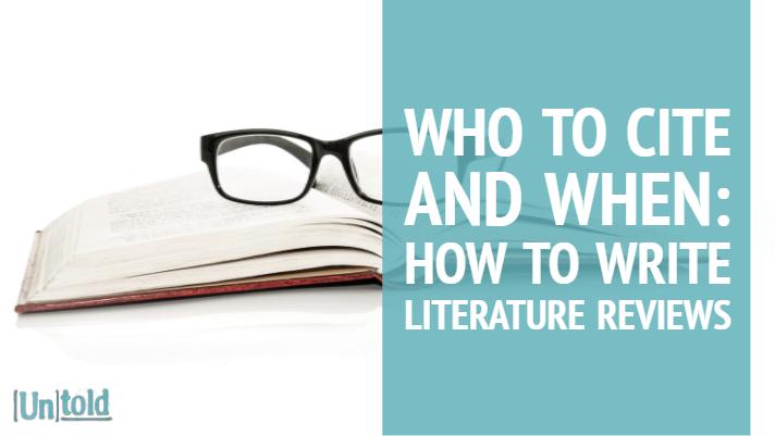 How to Write Literature Reviews