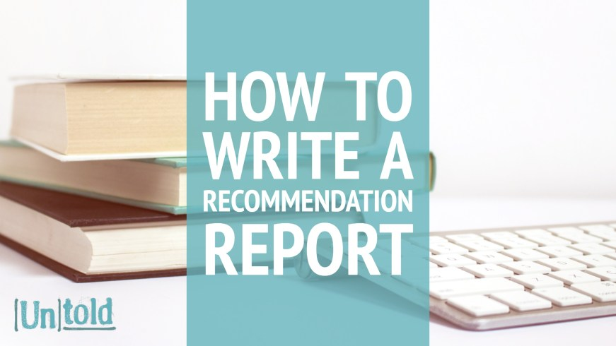 Writing a Recommendation Report (Sample)