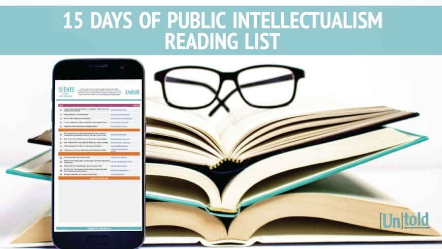 15 Days of Public Intellectualism Image