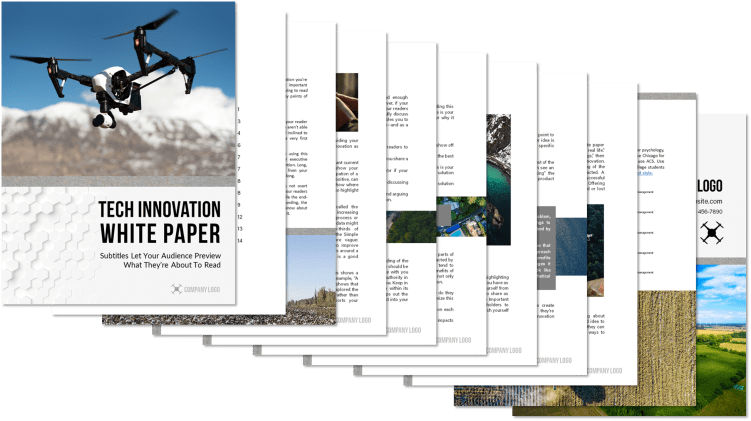 Microsoft word and powepoint white paper template design 3