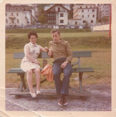 Sylvia on Holiday with her husband in Davos during the 70's