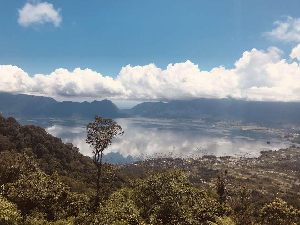 Maninjau See Panorama in Sumatra