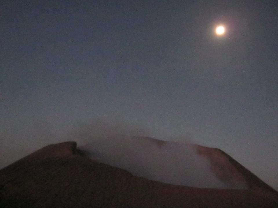 Vulkan Telica bei Nacht