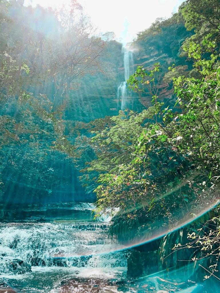 Juan Curri Wasserfall San Gil Kolumbien