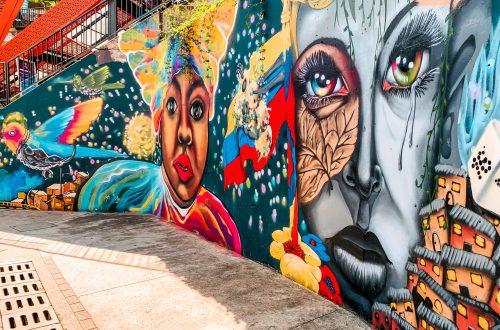 Medellin Kolumbien - Comuna 13 Graffitti