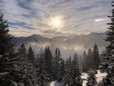 Ski Touring near Munich at the Teufelstättkopf