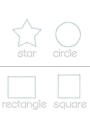 Printable Shape Practice Sheets for Kids