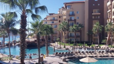 Timeshare hotels have lots of pools for family fun