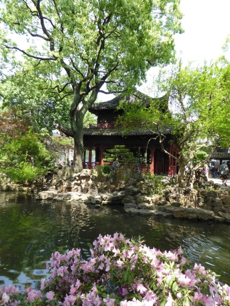 Tranquility in Yu Garden in the center of Shanghai