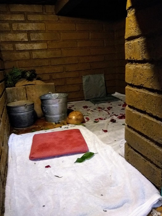 Temazcal takes place in a tiny room