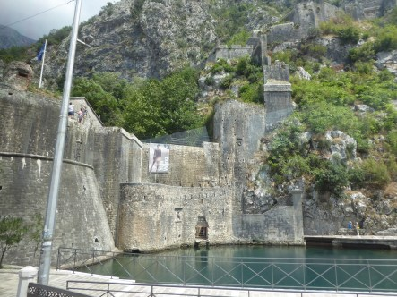 Kotor's old city wall is similar to the Great Wall of China