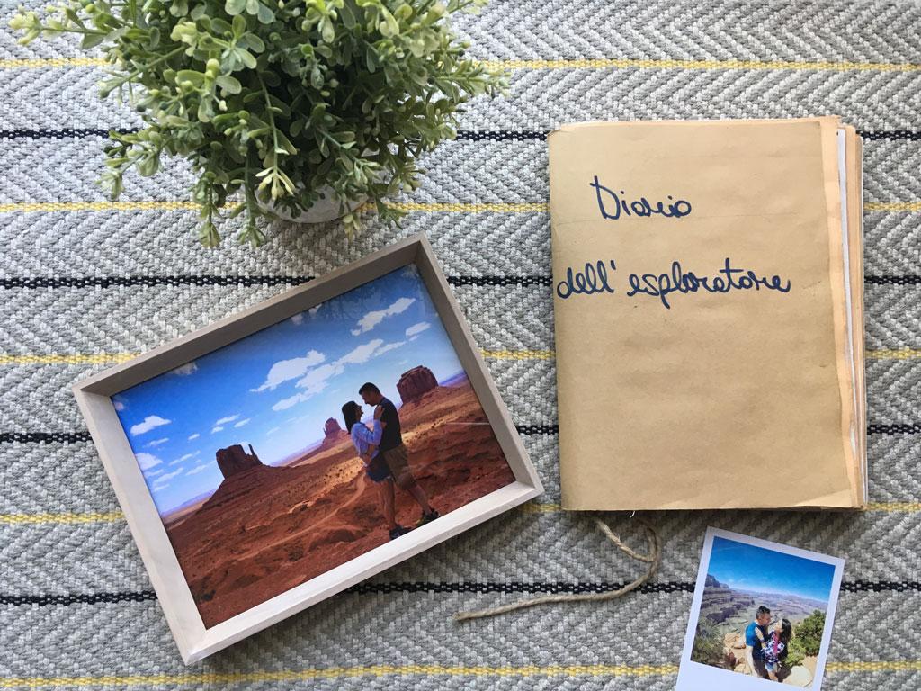 diario di viaggio fatto a mano regalo di San Valentino