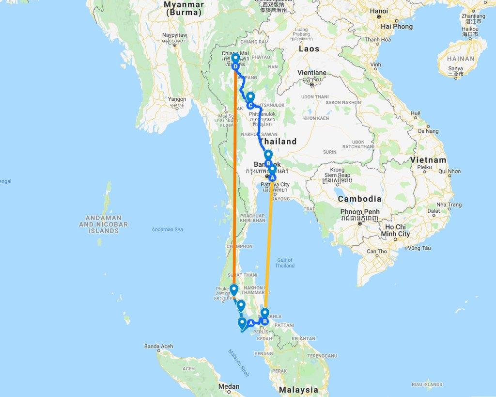 Thailandia itinerario