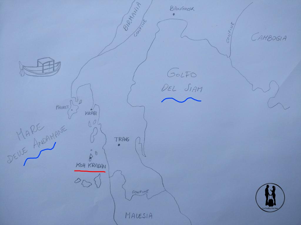 Koh Kradan map