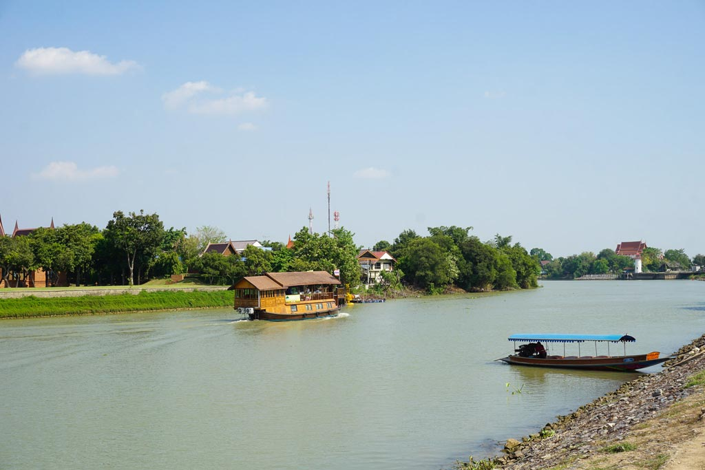 fiume chao phraya ayutthaya