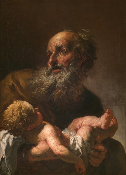 Simeon holds the infant Christ