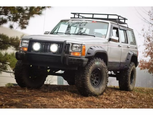 rugged ridge all terrain off road fender kit for jeep cherokee installed