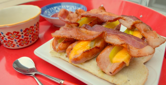 Rafted Wieners: Hotdogs, Cheese and Bacon. . .  Need I say more?