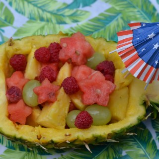 Patriotic Pineapple Boat