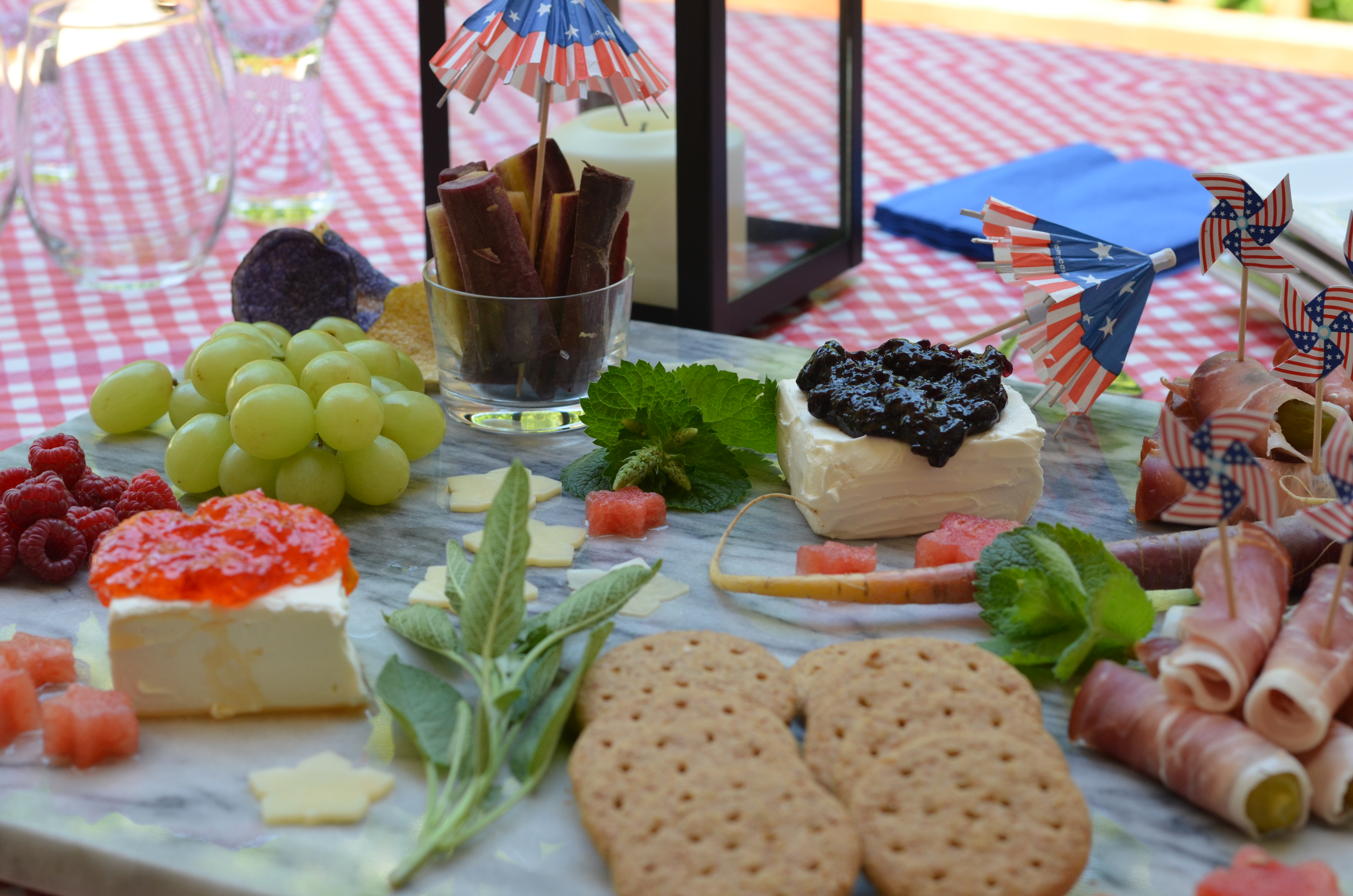 ultimate independence day cheese board