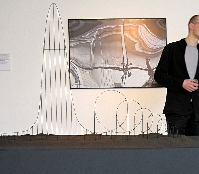 The Euthanasia Coaster on display at the HUMAN+ exhibition in the Science Gallery, Dublin in April 2011.