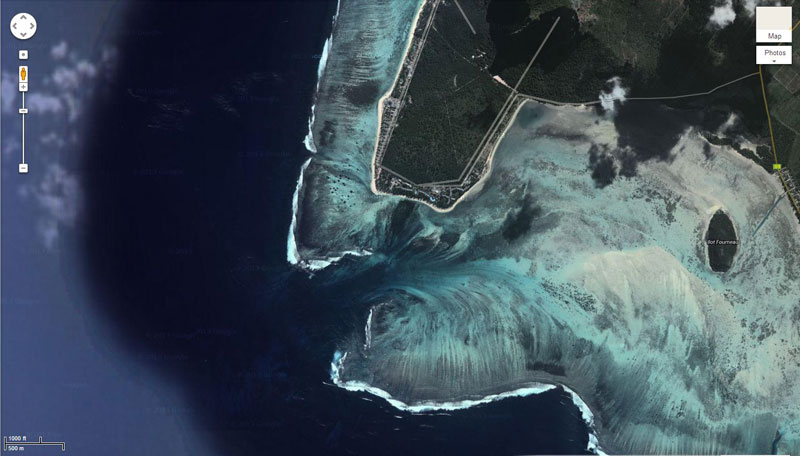 Satellite Photograph by DigitalGlobe via Google Maps