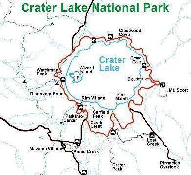 Rim Drive is a 33-mile (53 km) loop road around Crater Lake
