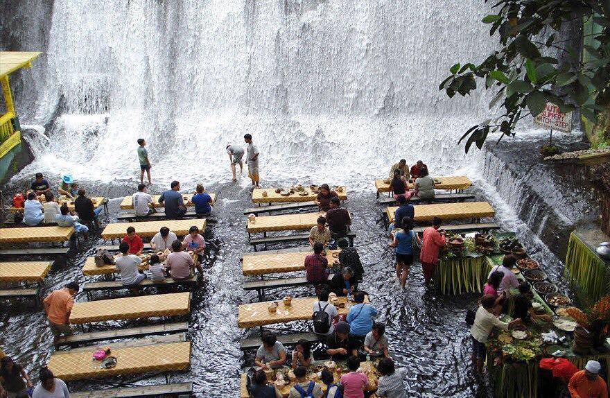 Labassin Waterfall Restaurant - Unusual Places