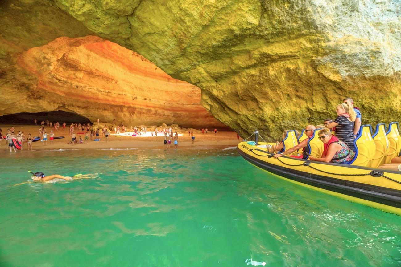 Benagil caves boat tour