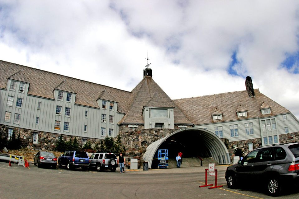 Timberline Lodge front entrance