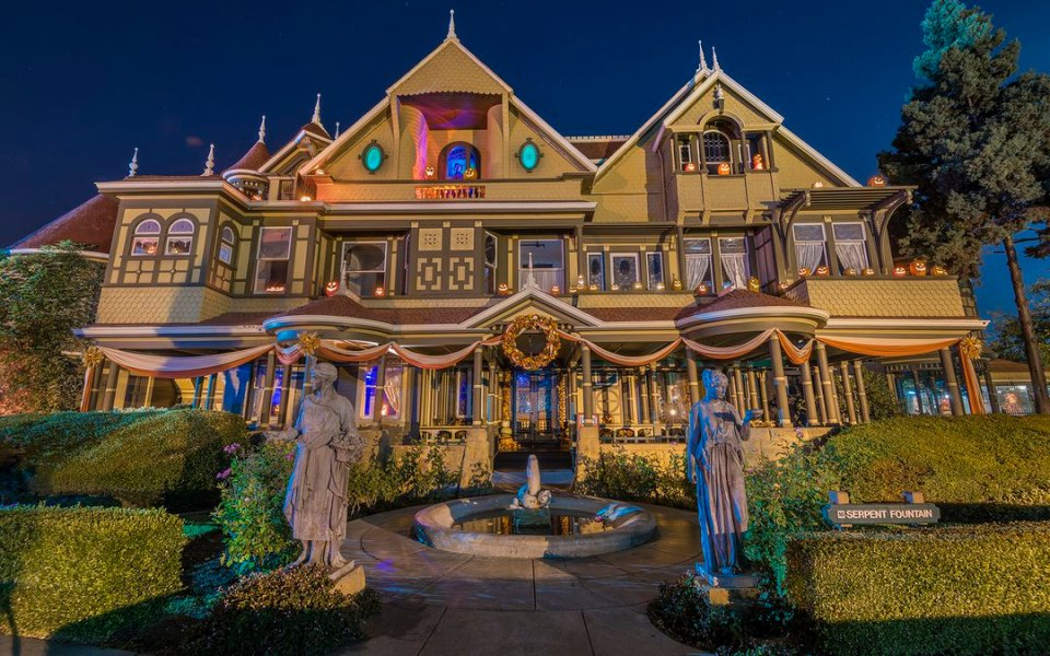 Frightful Halloween tour at Winchester Mystery House