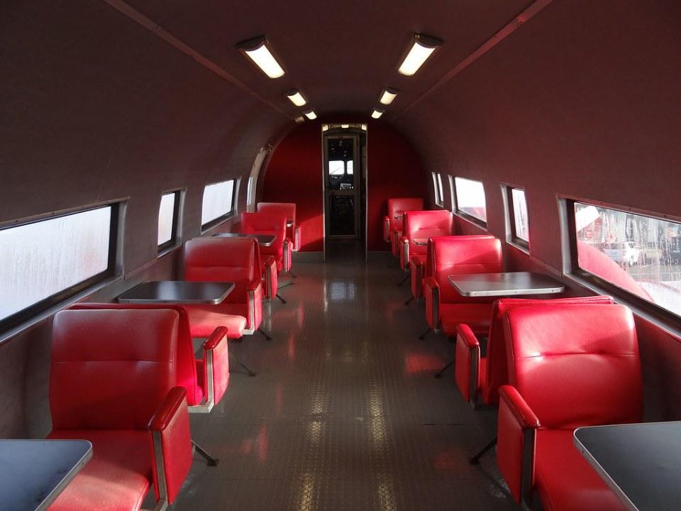 Inside decommissioned Douglas DC-3 plane