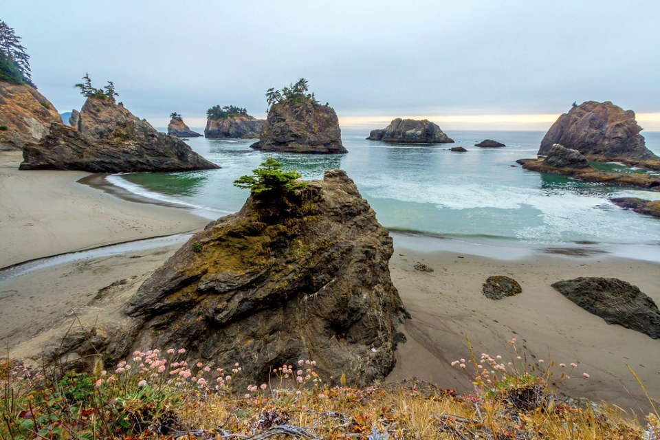 Sea Stacks at Secret Beach, Oregon