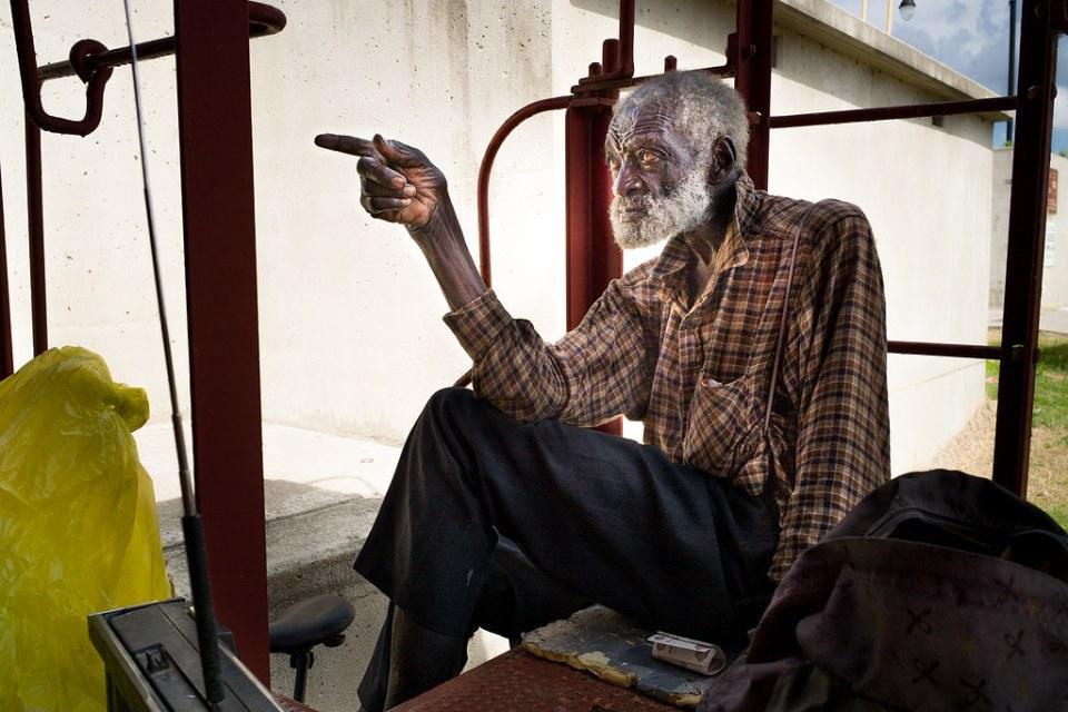 Каир, Иллинойс, 90-летний бездомный