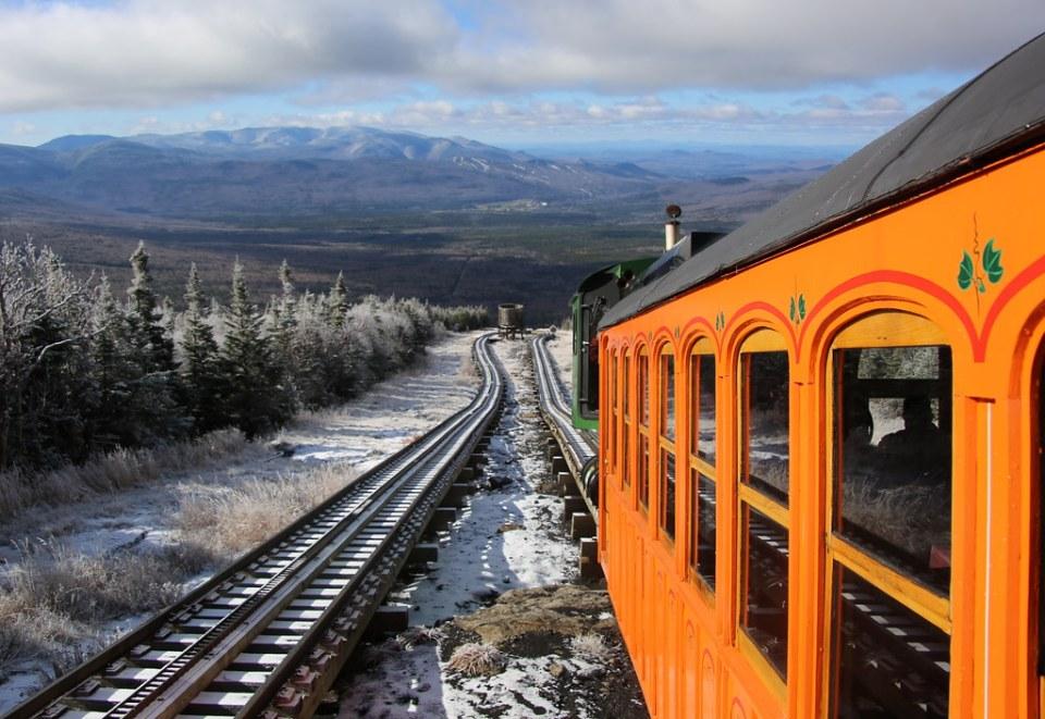 Descending Mount Washington on the cog railway.