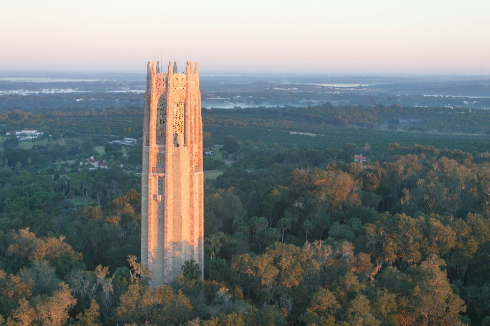 Aerial of Bok Tower Gardens