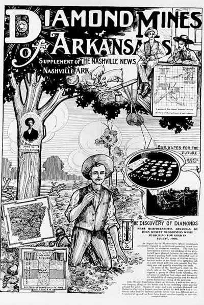 Diamond mines of Arkansas supplement Nashville News 1906