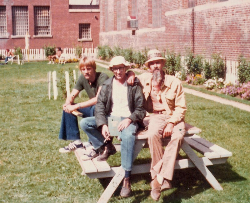Inmates hanging out in Lifers' Park