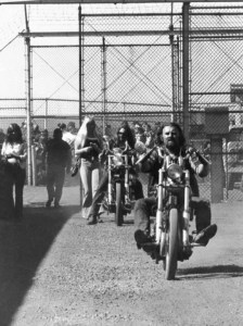 Invited guests to the Bikers' Banquet at the Washington State Penitentiary