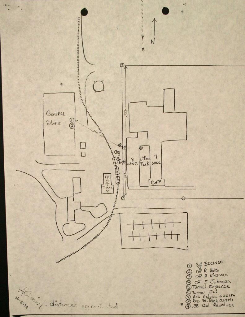 Sketch of escape route