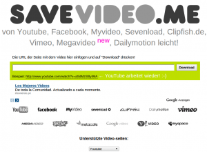 Descargar videos de Internet SaveVideo.me - UnUsuario