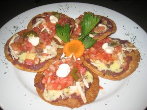 Nachos in the Costa Rican style.
