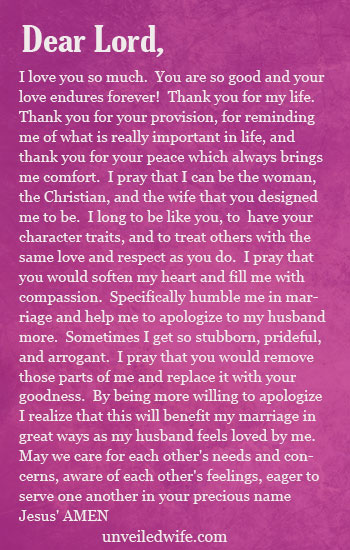 Apology To Husband : apology, husband, Prayer, Apologizing, Husband