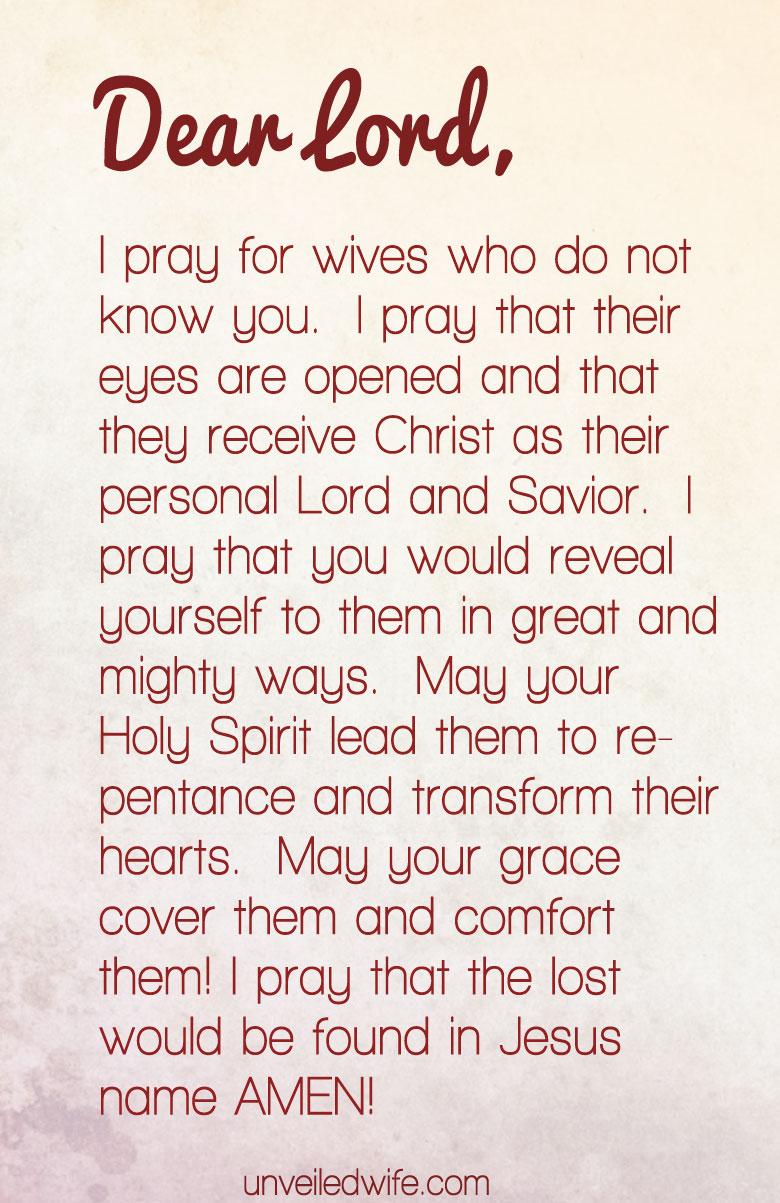Prayer Wives Who Dont Know God