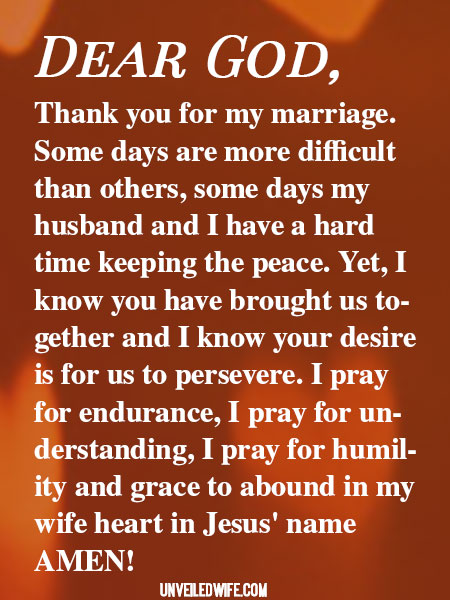 Prayer Perseverance In Marriage