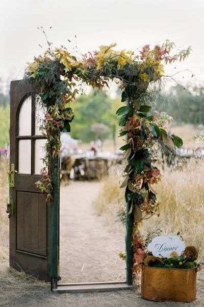 rustic setting and entry