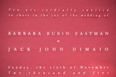 Invitation in Red
