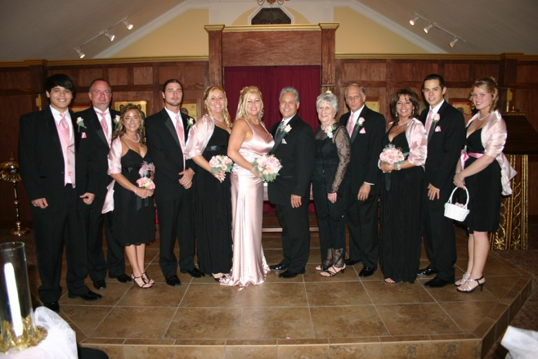 Wesley and Donna's wedding party