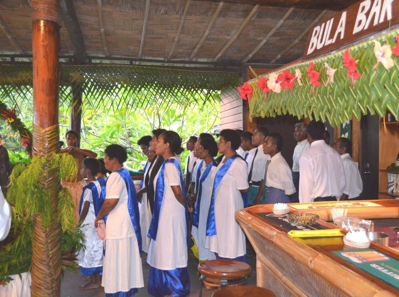 The Fiji Choir sings