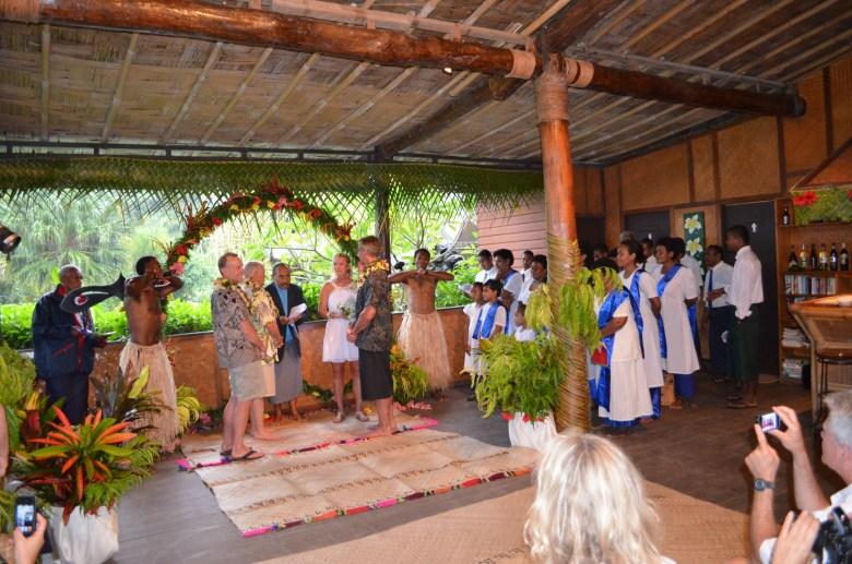 Fiji wedding ceremony with choir